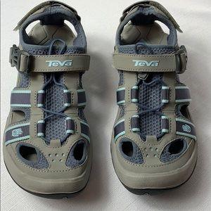 Teva Omnium Sandals Blue & Gray EUC SZ 7
